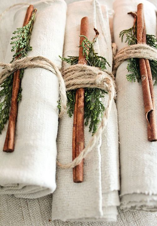 Cinnamon inspired table setting: