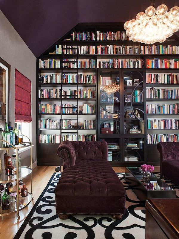 love the chaise lounge - Take Your Home Library To A New Level With These Inspiring Design Ideas: