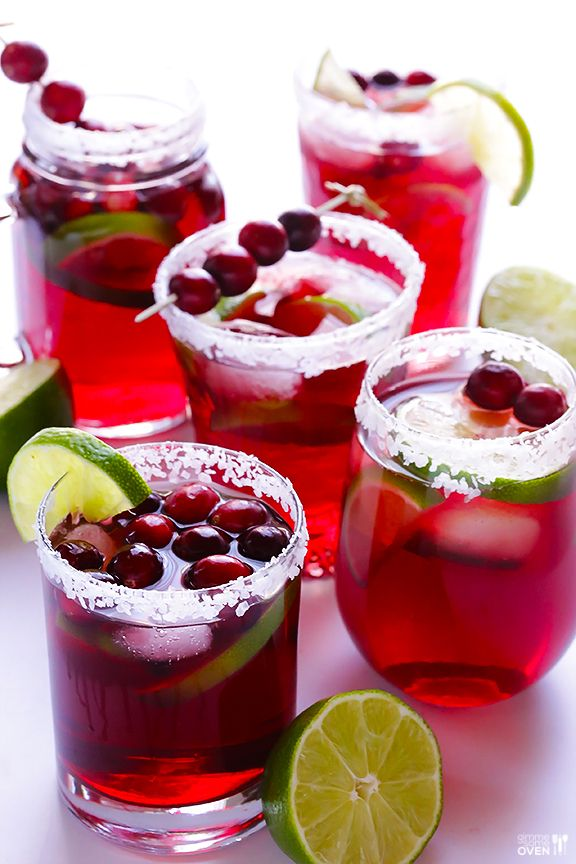 Easy Cranberry Margaritas Recipe -- these delicious drinks come together in just 5 minutes! | gimmesomeoven.com: