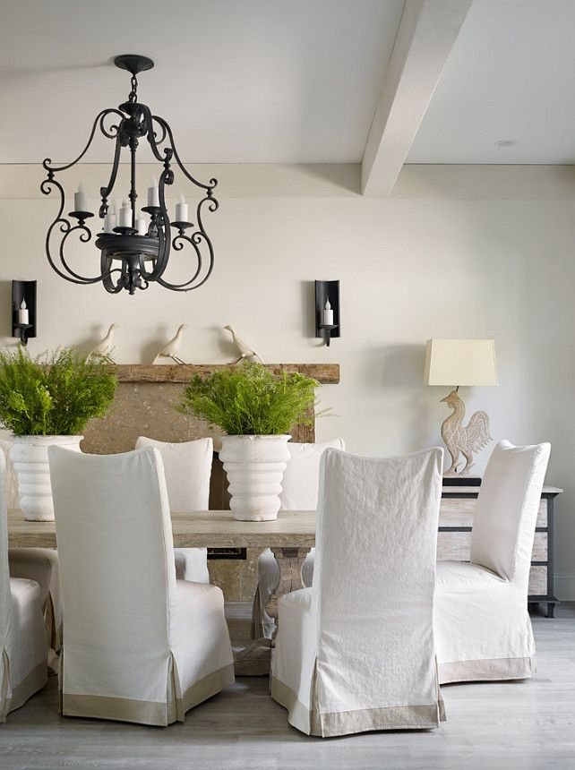 "Interior Design Ideas - ""Warm White Paint Color"" (China White Benjamin Moore):"