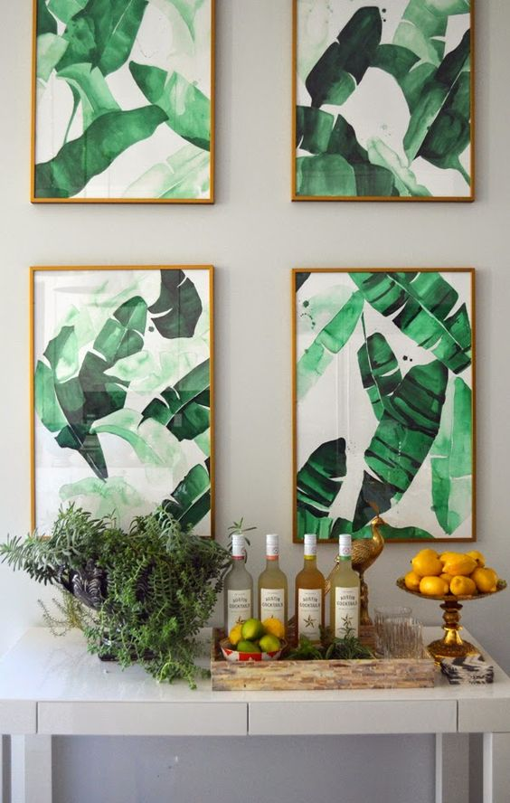 The Beverly Print of tropical banana leaves at The Aestate.: