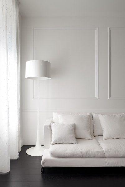 SPUN LIGHT F in white by Sebastian Wrong from #FLOS (http://www.arteparquet.it/boiserie):
