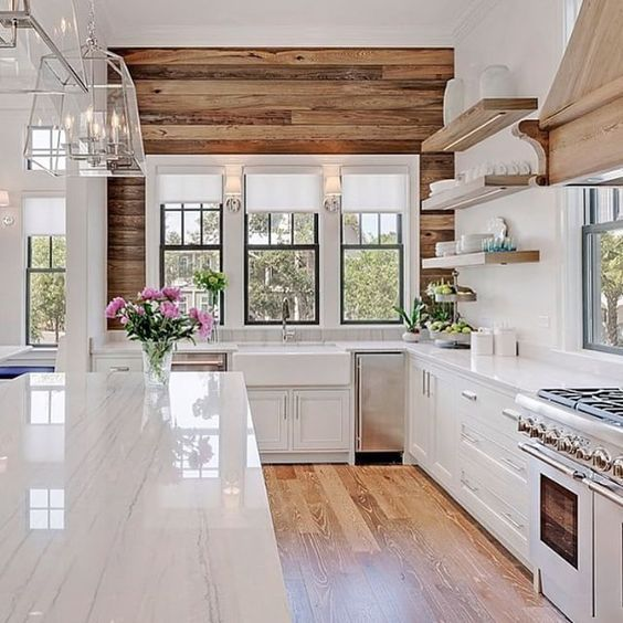 Love farmhouse kitchens? These ten spaces are so perfect, you'll be ready to pull up a chair and sip on your coffee to stay and dream. Lots of inspiration!!: