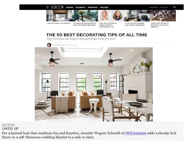 Starting Fresh For The Fall / JWS Interiors Featured on ElleDecor.com