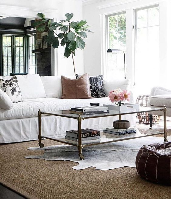 Timeless contemporary living room style in elegant neutrals.: