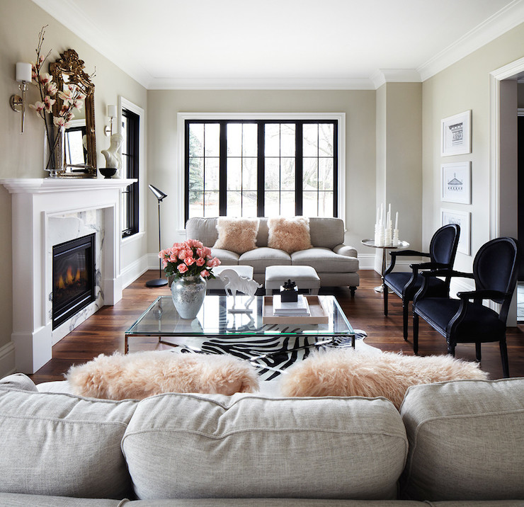 Image result for blush black and white rooms