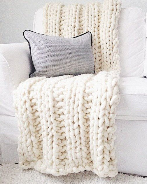 Chunky knit blanket hand knitted with Loopy Mango Super Chunky wool chunky knit throw throw blanket wool throw wool blanket: