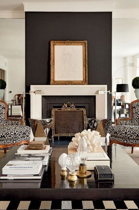 Fireplace Screen Interior Design Idea: