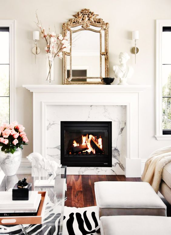 Image result for glamorous room with marble shelves and pink rug