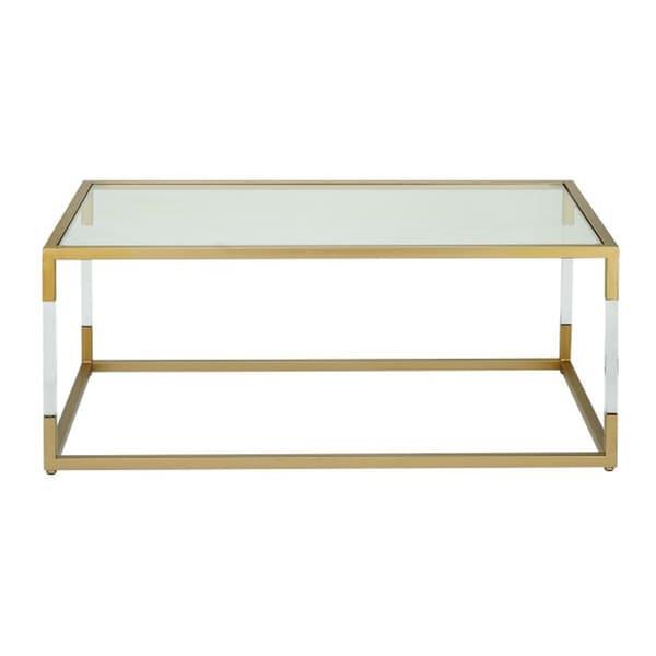 Adorable Metal Glass Acrylic Coffee Table