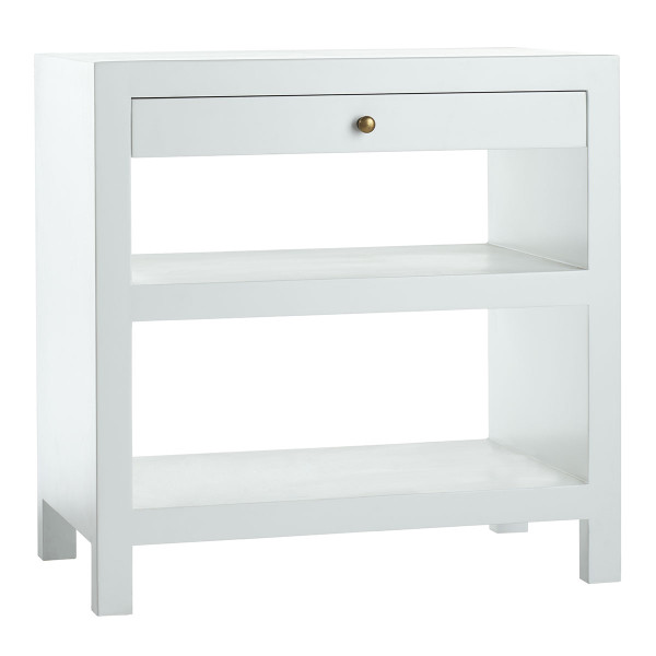 Image result for white lacquer nightstand