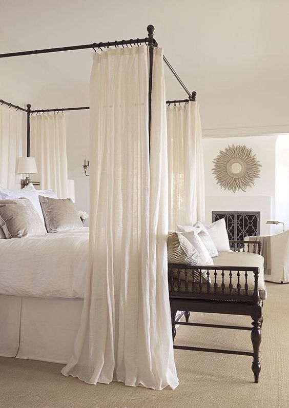 Neutrals with Canopy Bed:
