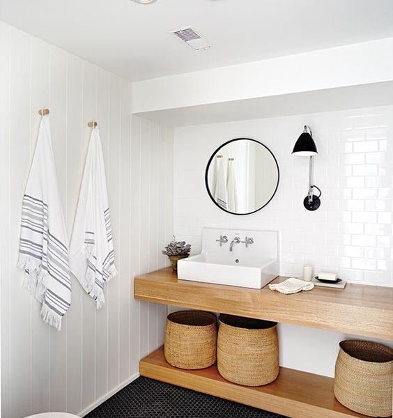 The Case for An Open Bathroom Vanity