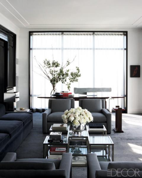 Image result for dark gray rooms elle decor