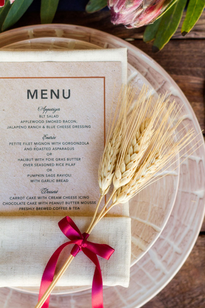 Include a Menu with Thanksgiving