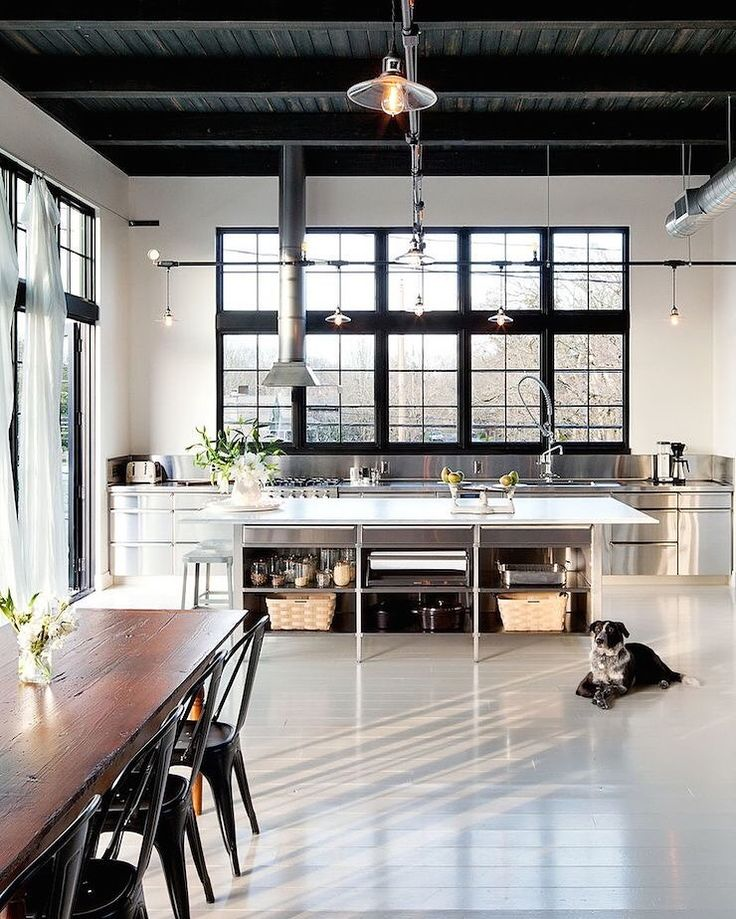 Image result for black loft brooklyn kitchen