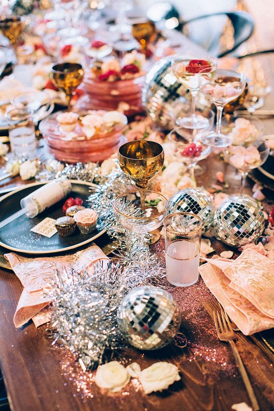 glam holiday party inspo