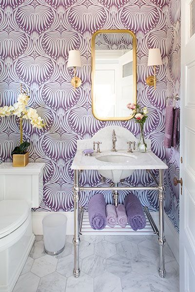 Image result for violet powder room