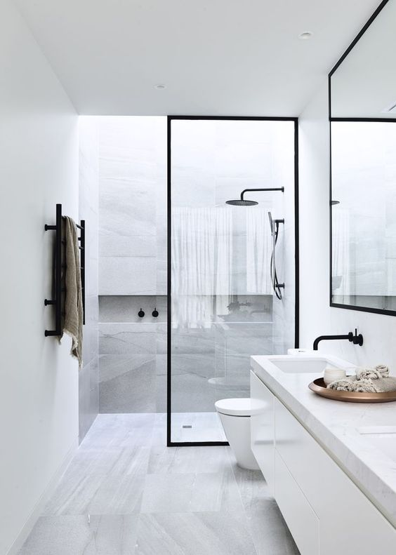 Image result for floating double marble top vanity