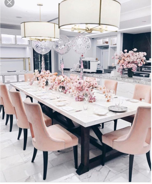 Image result for blush dining room